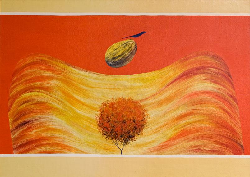 El pajaro y la sombra, J. Swaminathan, 1981